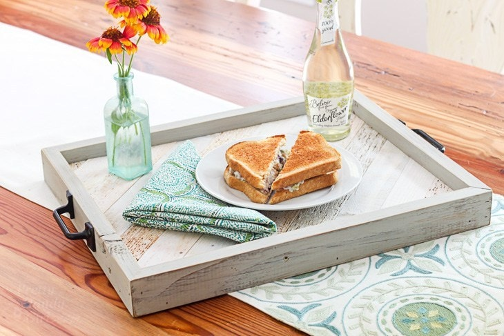 serving tray with lunch