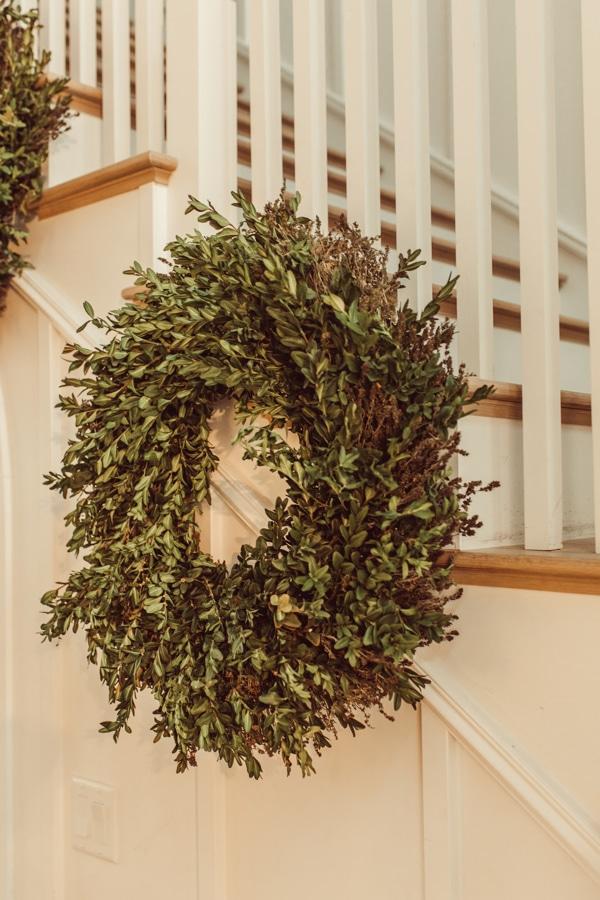 live christmas wreath