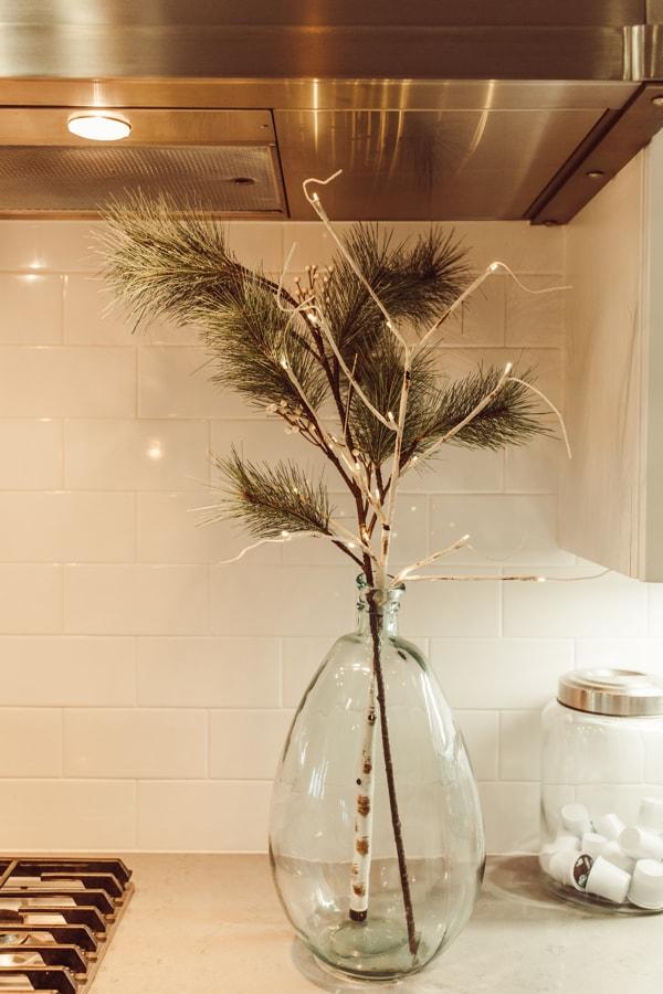 glass vase in kitchen