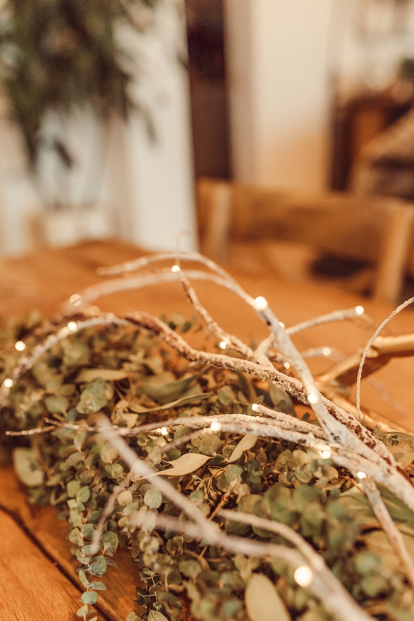 live garland and branches