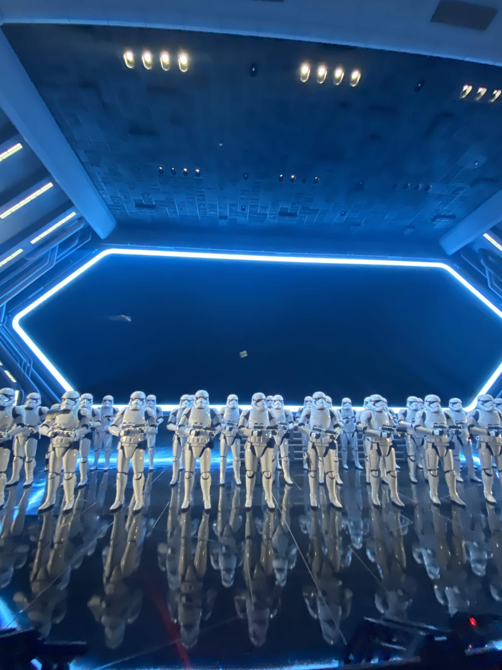 disneyland star wars ride with stormtroopers