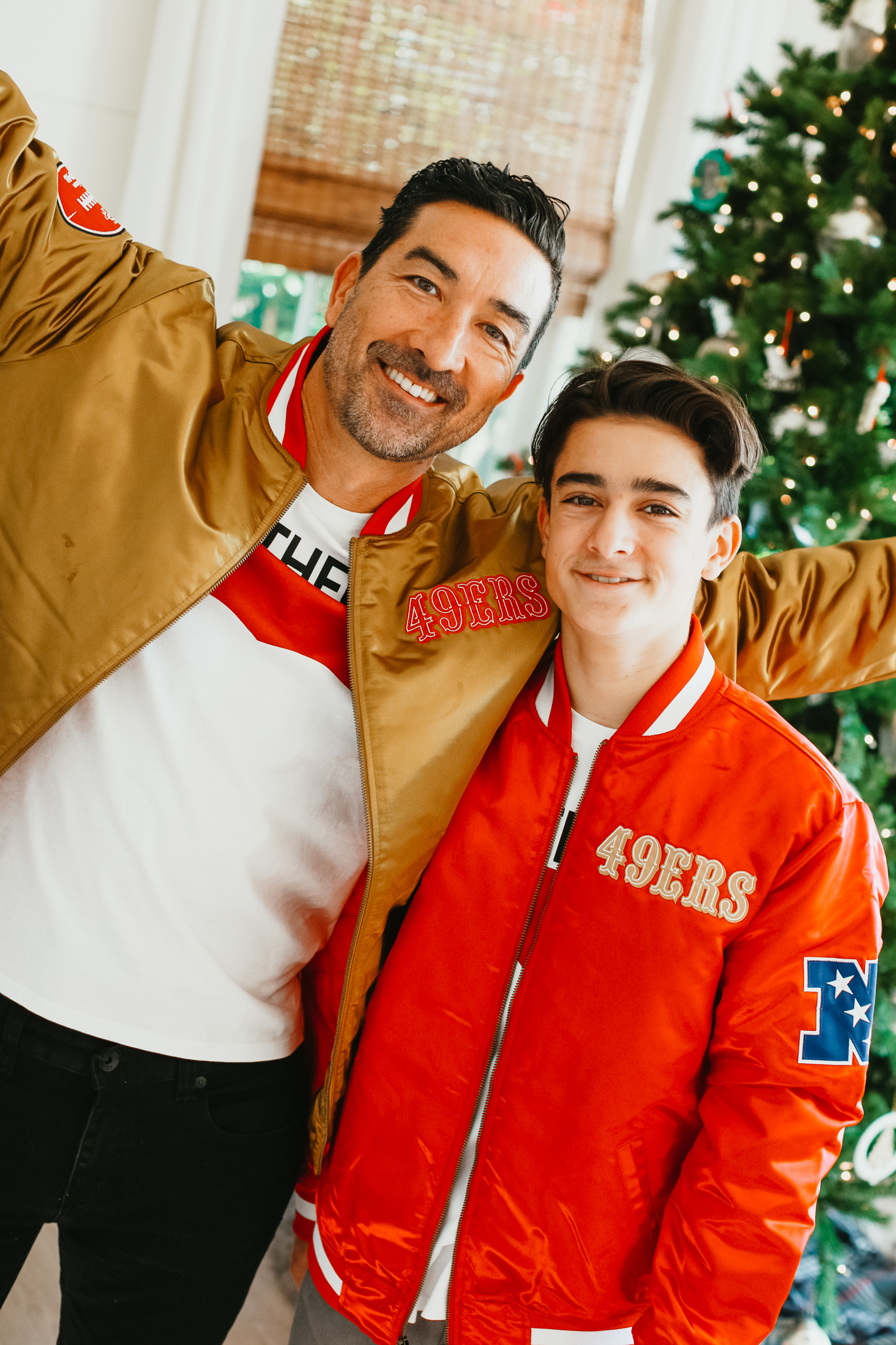 father and son football jackets