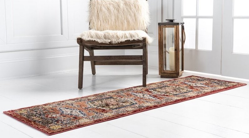 runner rug and chair