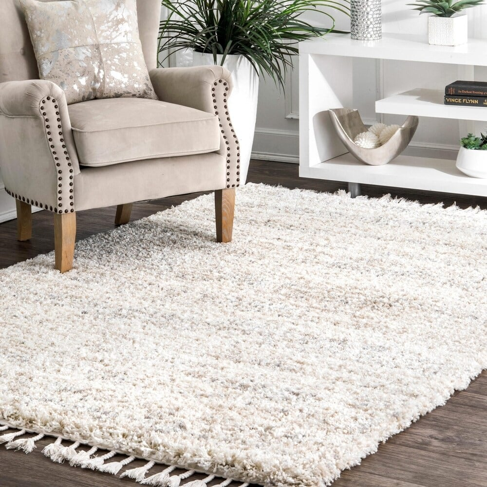 rug and chair in living room