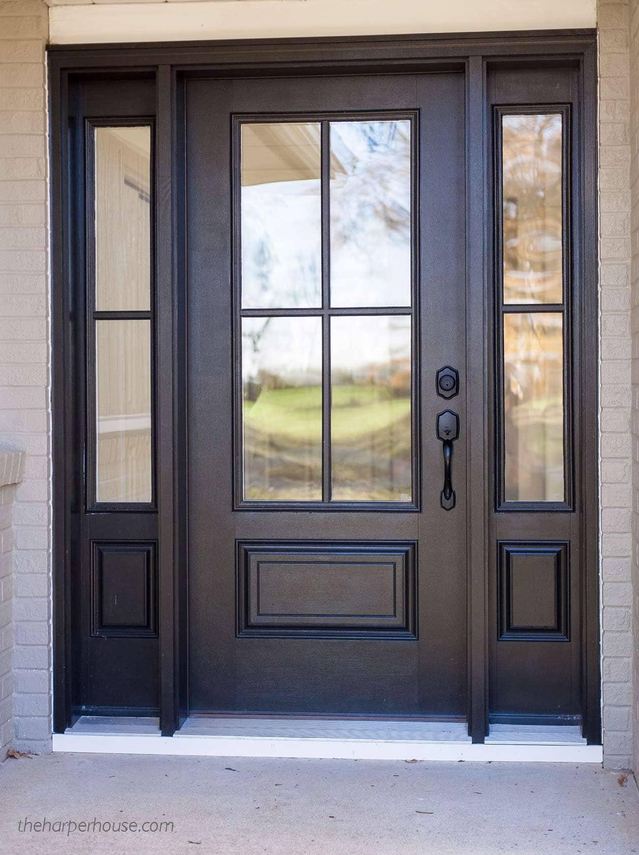 dark front door