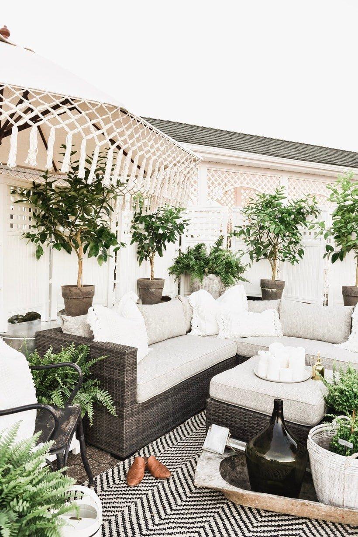 fashionable outdoor patio