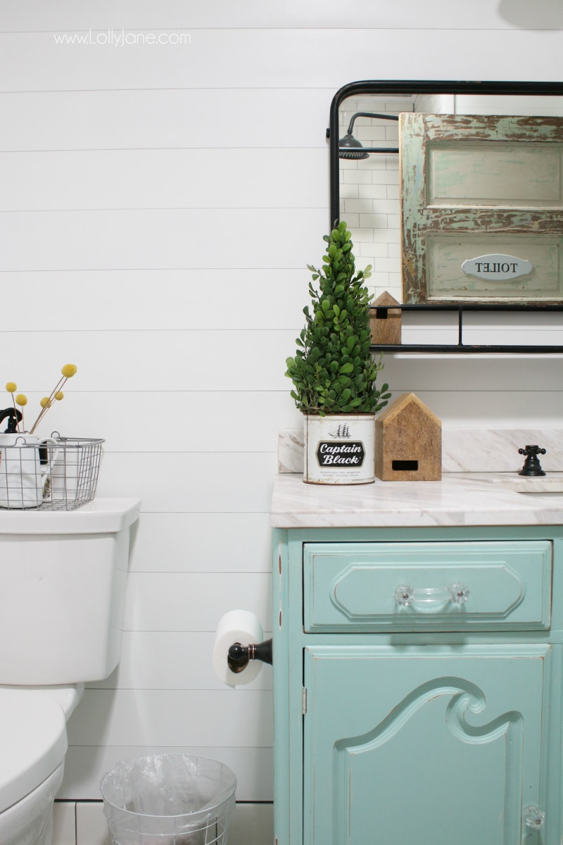 shabby chic vintage bathroom