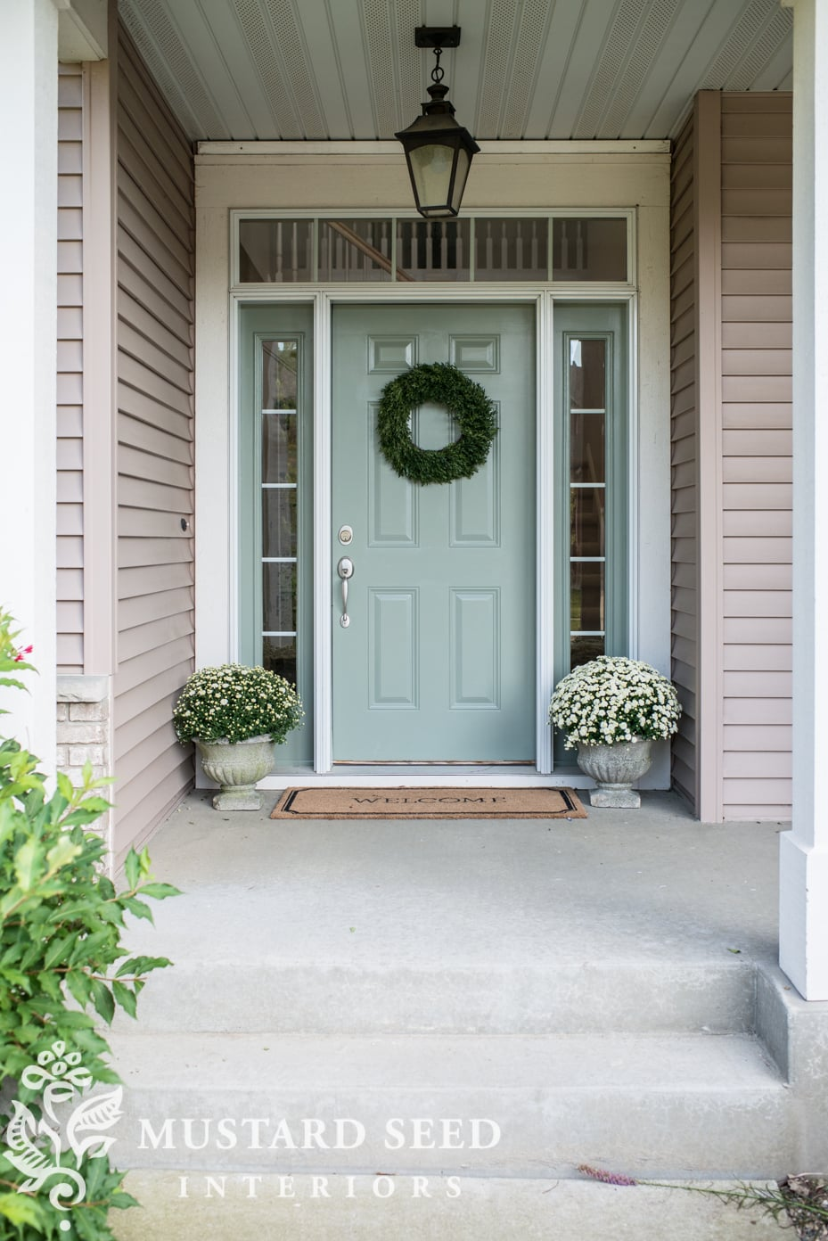 blue farmhouse front door