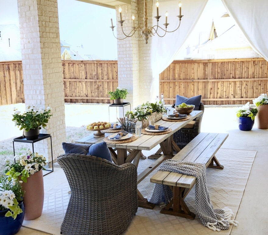 luxury outdoor patio