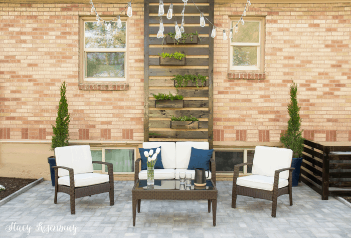 outdoor patio area