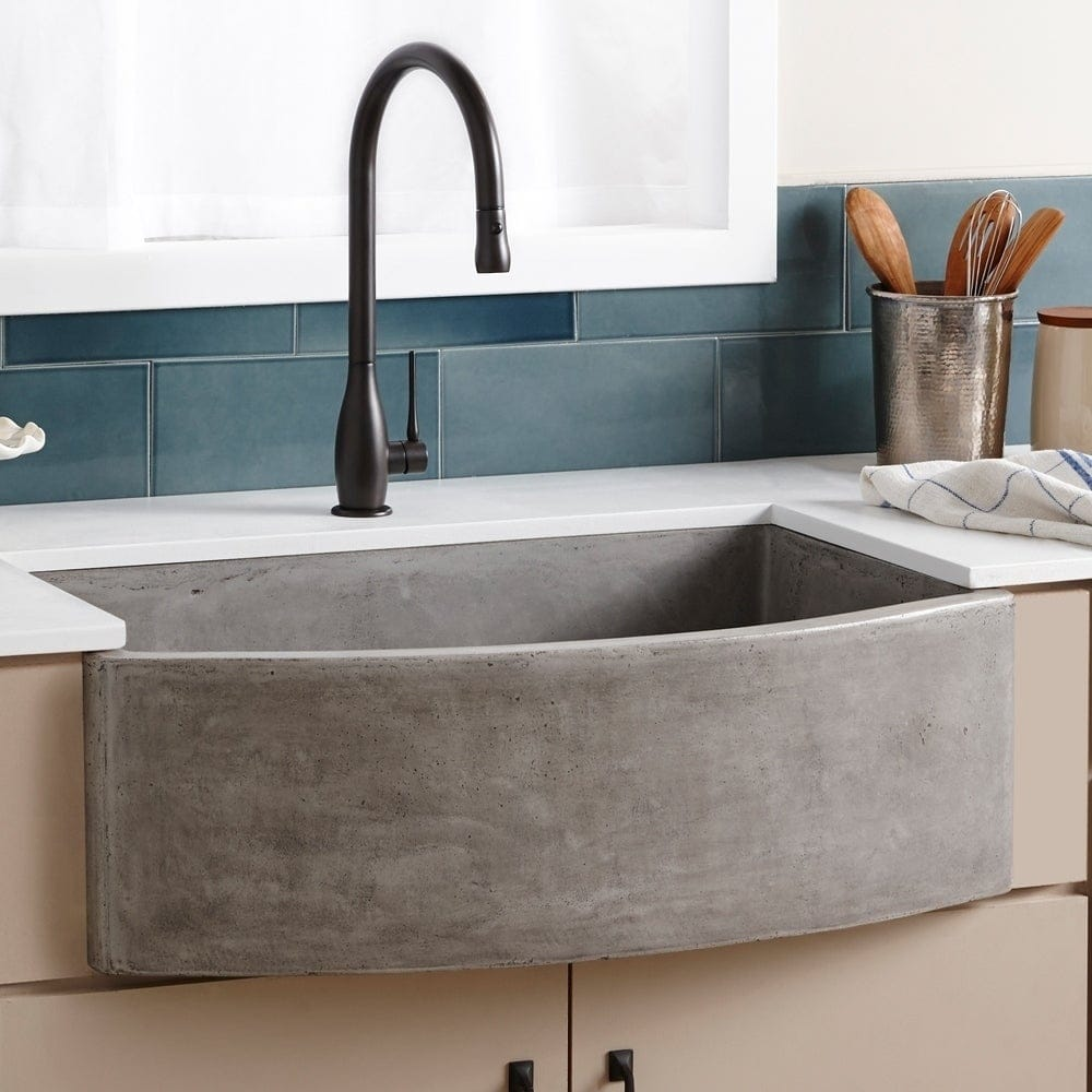 concrete kitchen sink