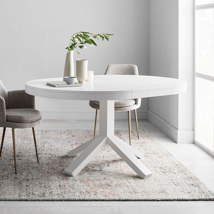 small round white table