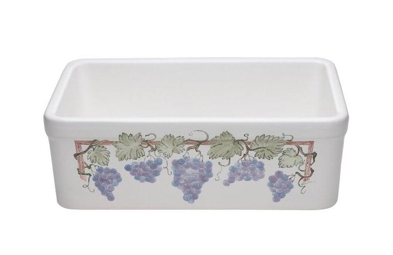 hand painted kitchen sink