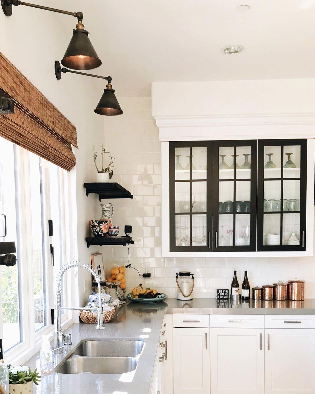 clean farmhouse kitchen