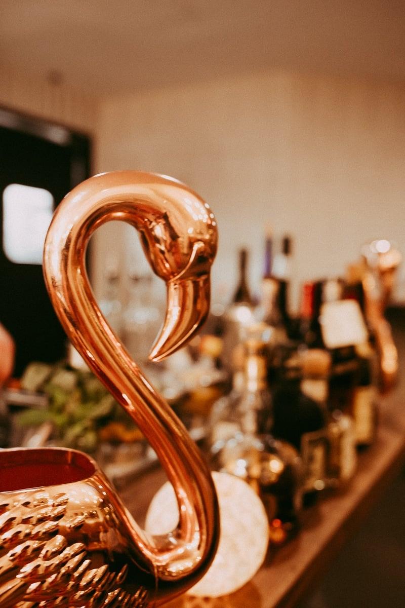 bottles on bar