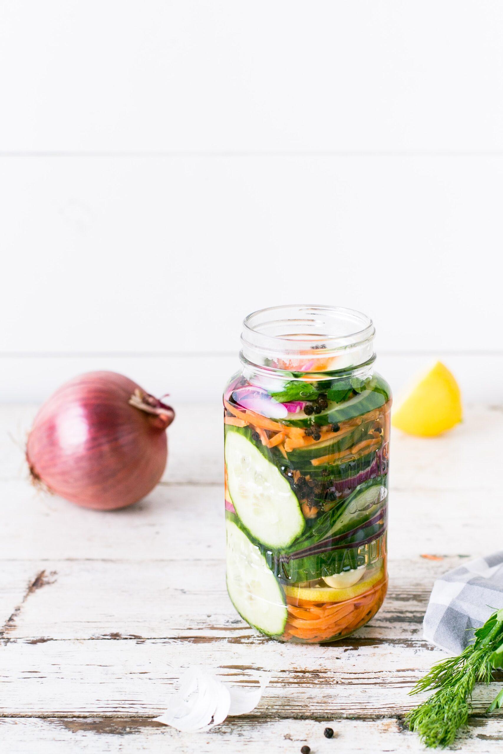 ingredients in a jar