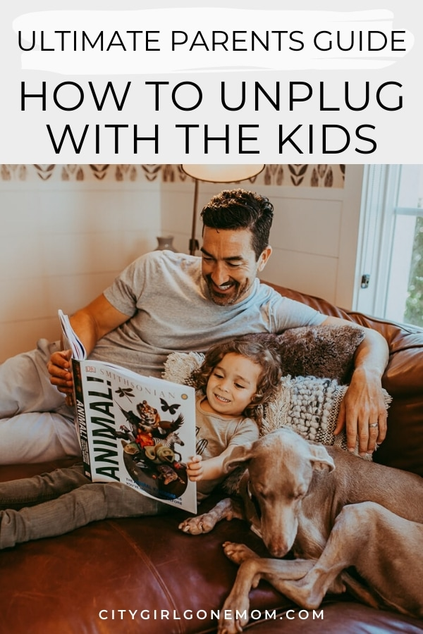 son and dad reading