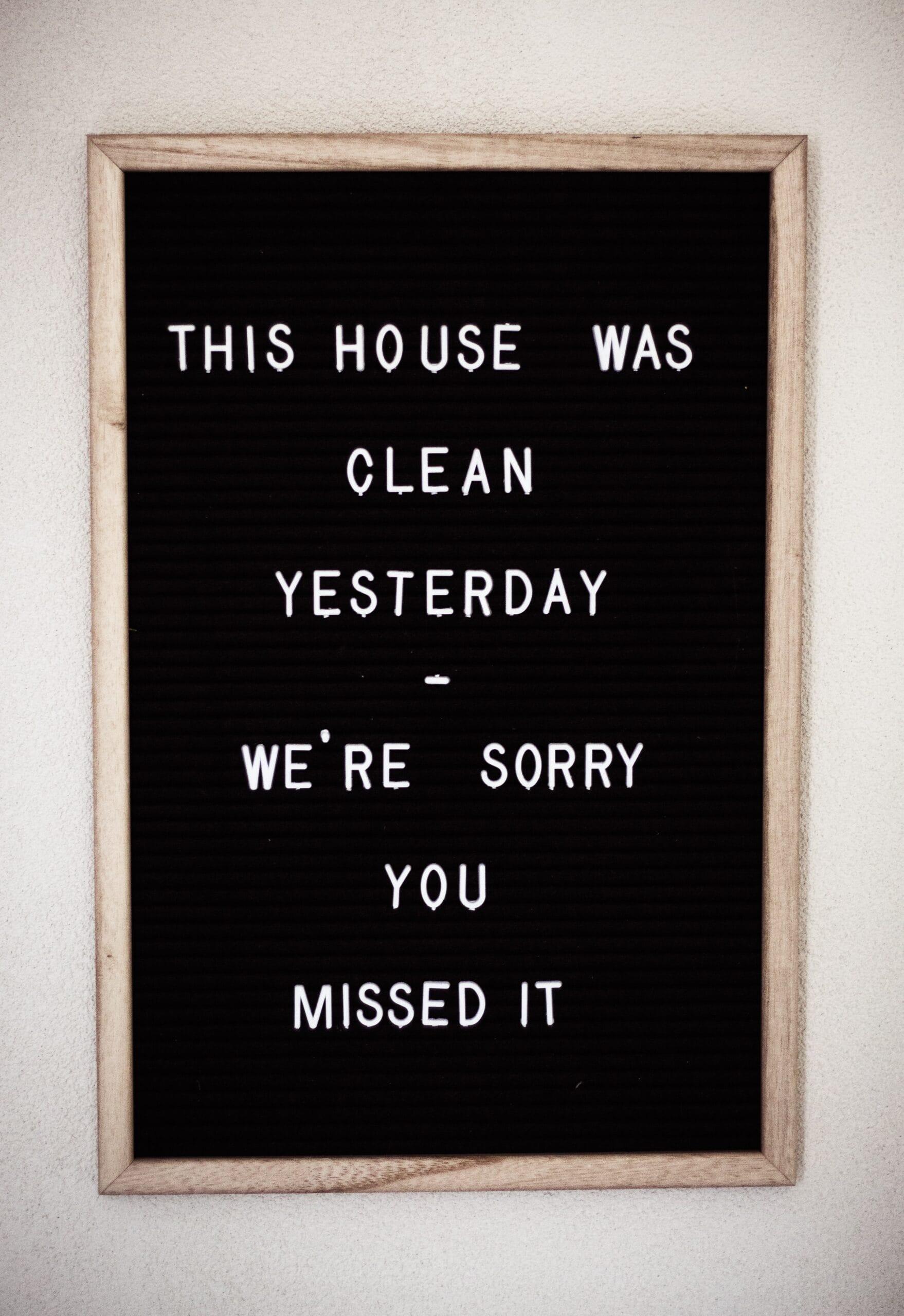 clean signboard