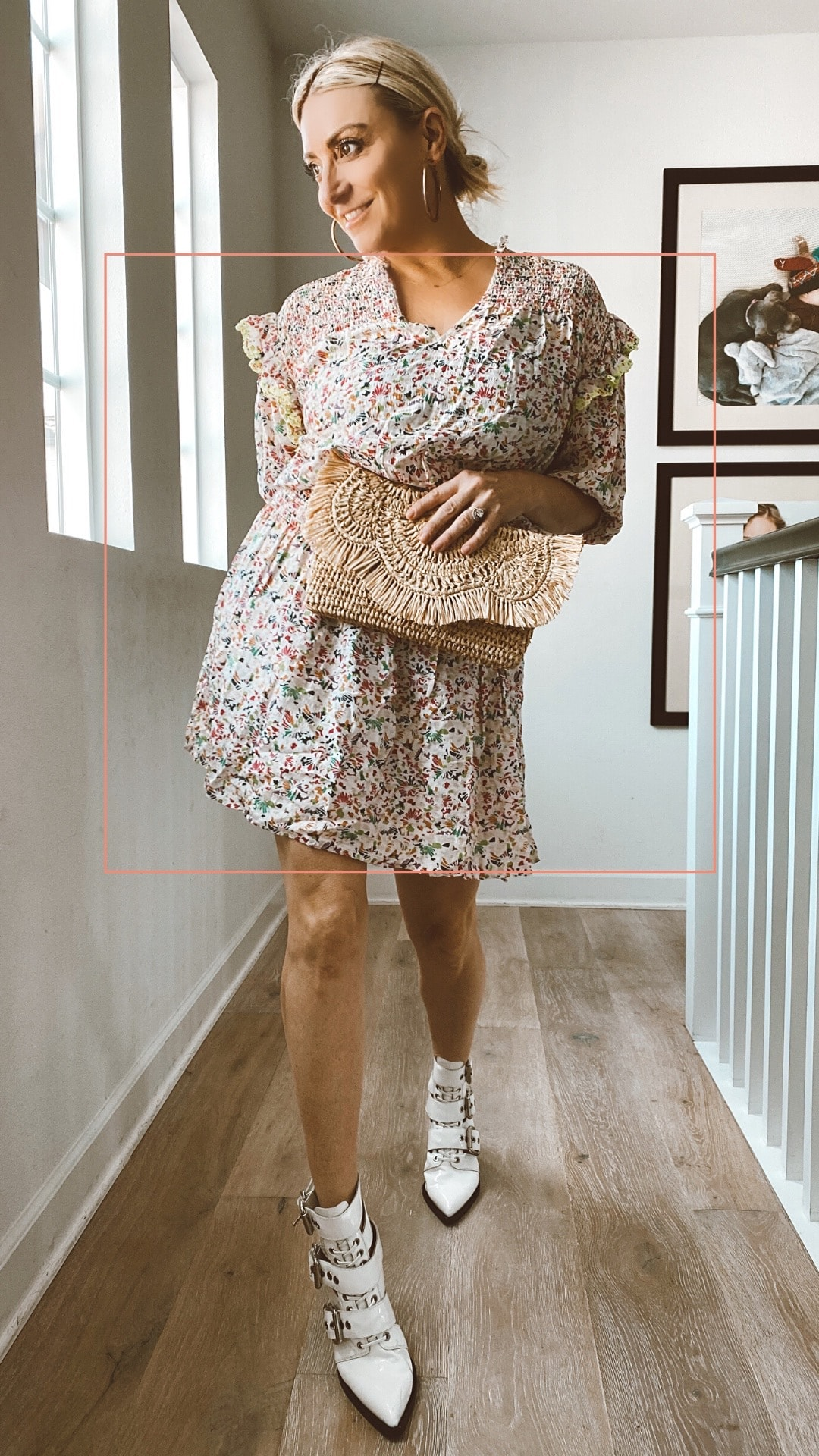 woman in spring outfit