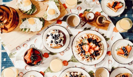 breakfast food on table