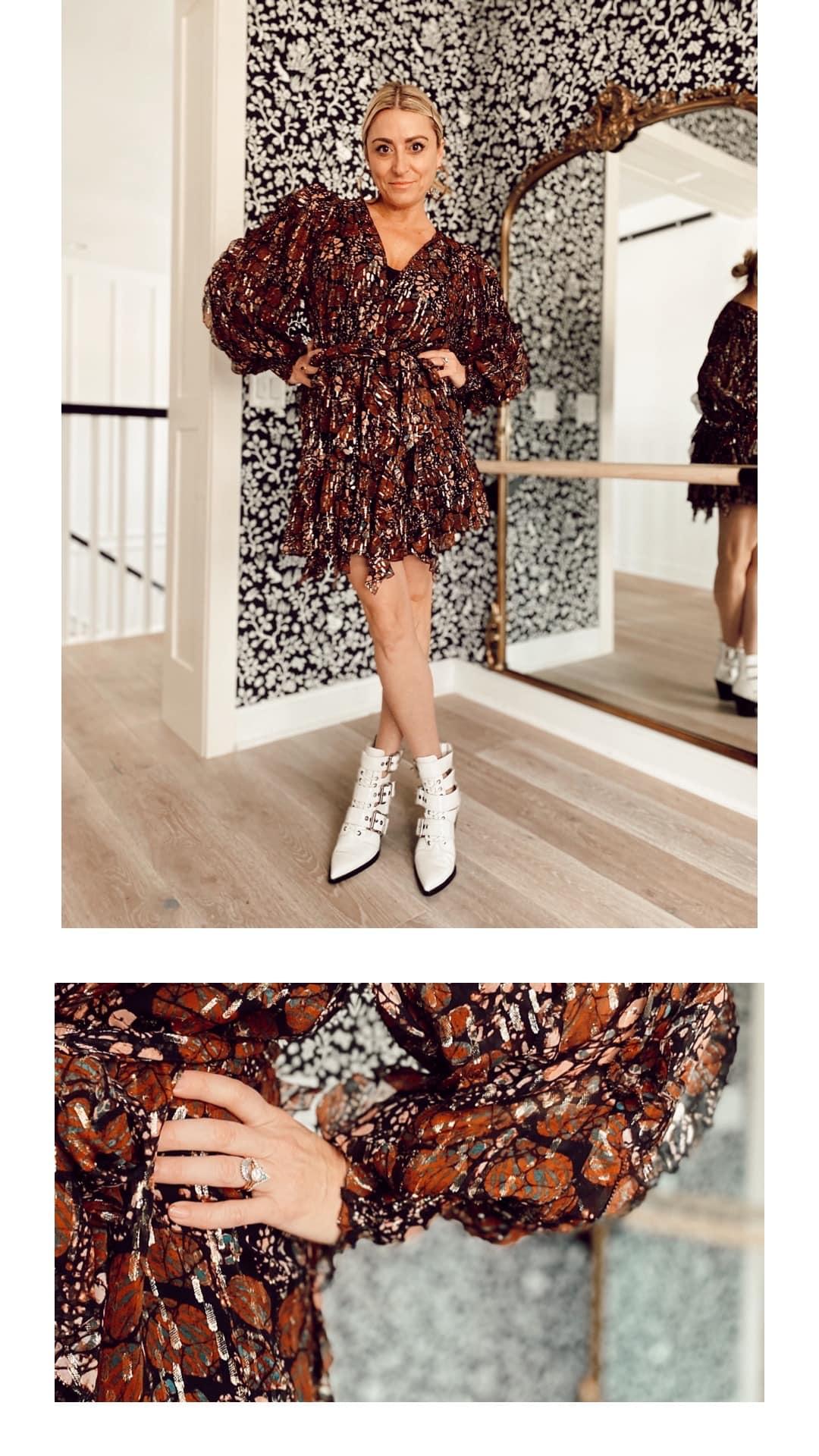 stylish woman with fashion details