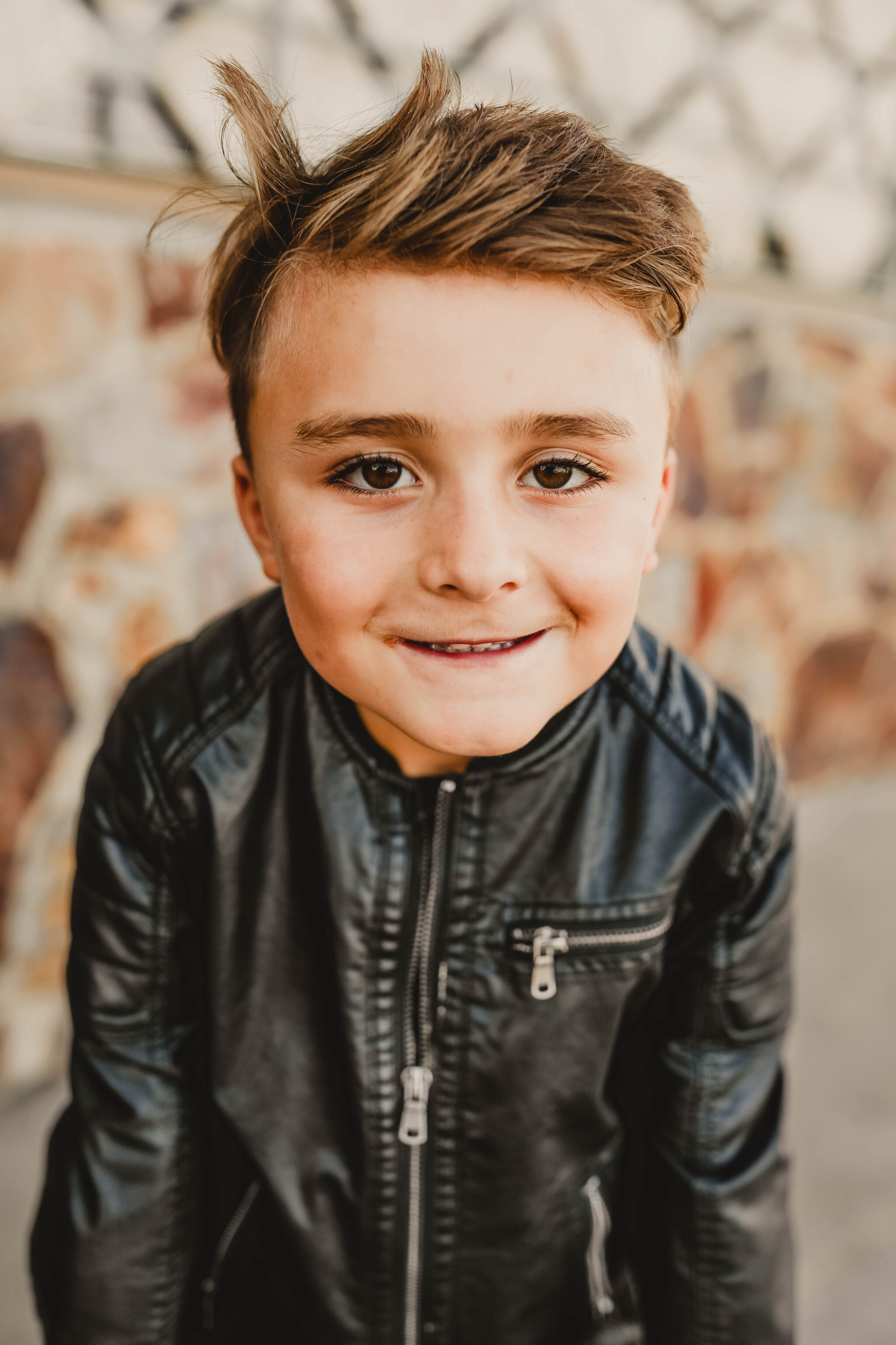 boy smiling at camera