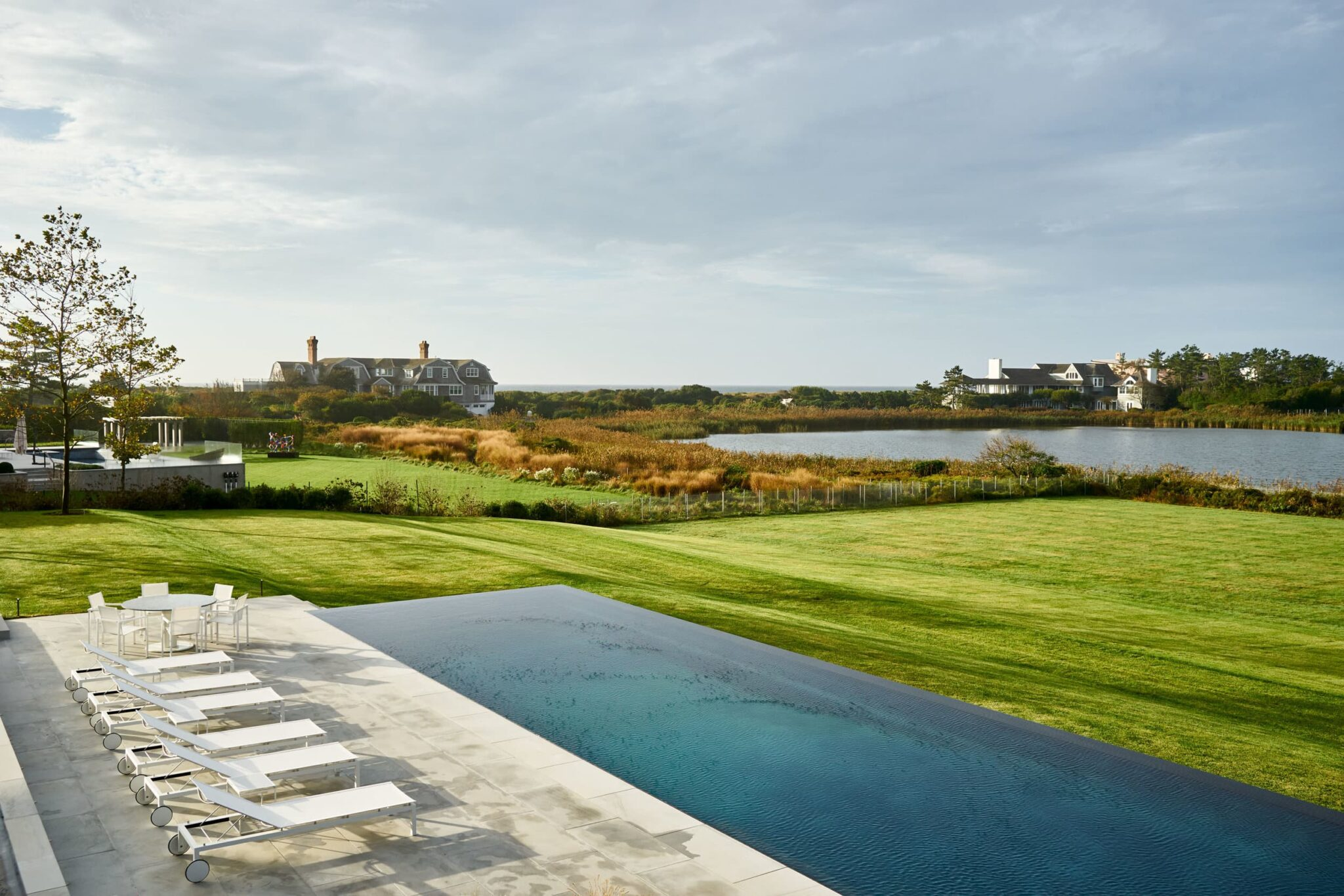 Hamptons backyard