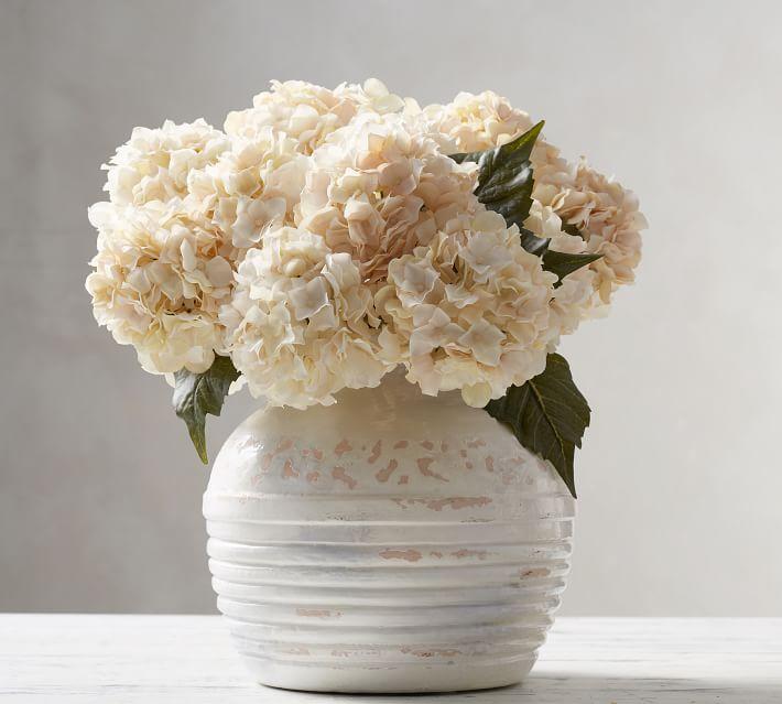 faux flowers in vase