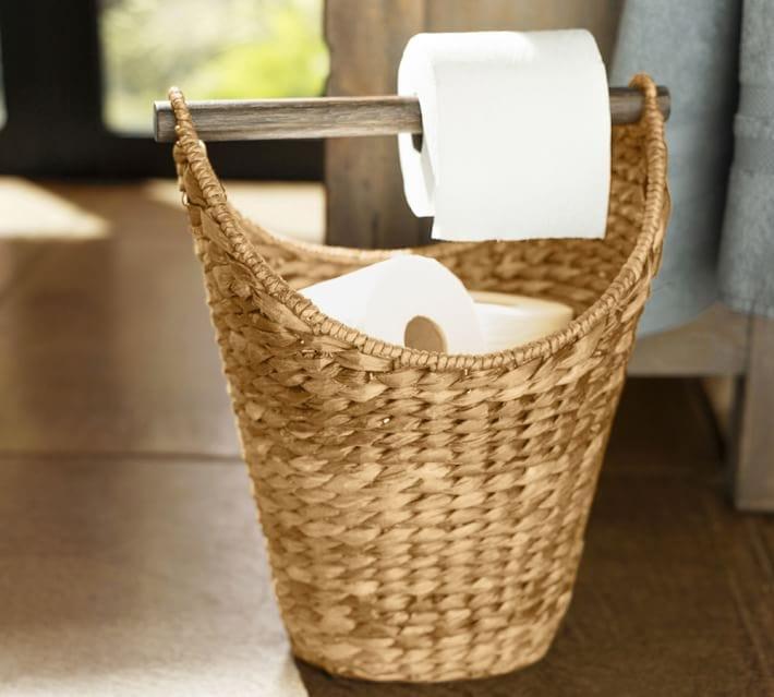 basket toilet paper holder