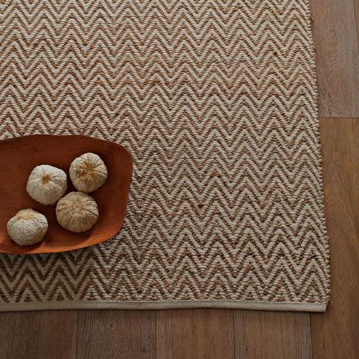 beige rug with bowl