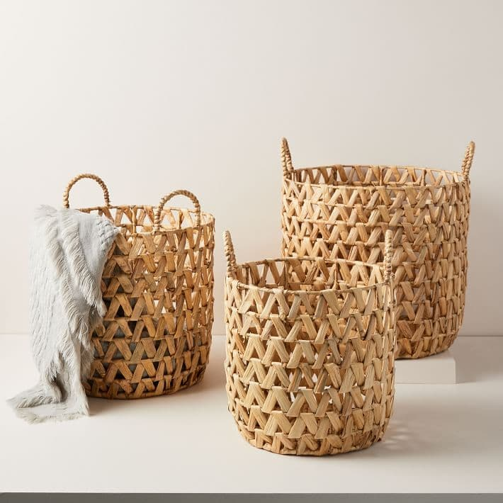 large woven baskets