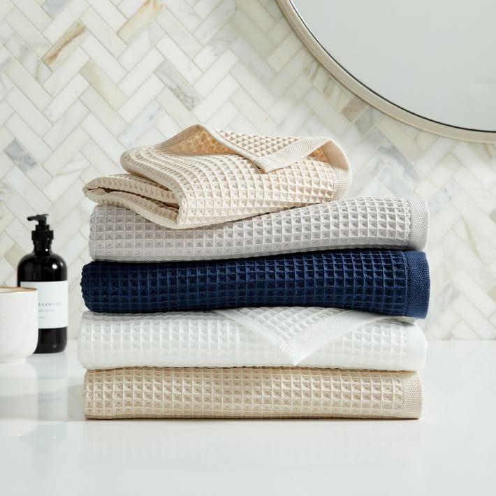 stack of bathroom towels