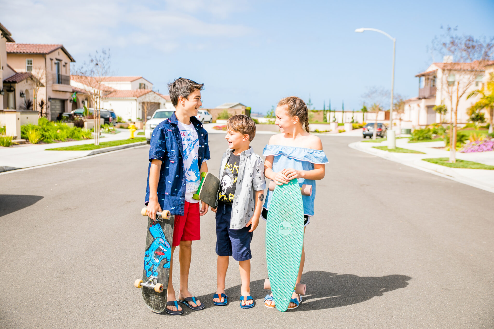 kids playing in the neighborhood