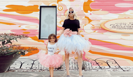 mom and baby in tutus