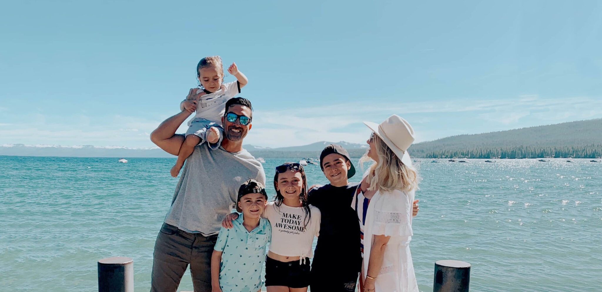 family at lake tahoe
