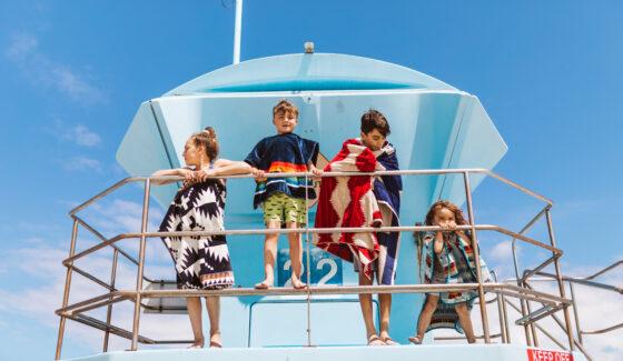 kids on lifeguard station