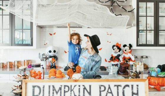 mom and toddler halloween party