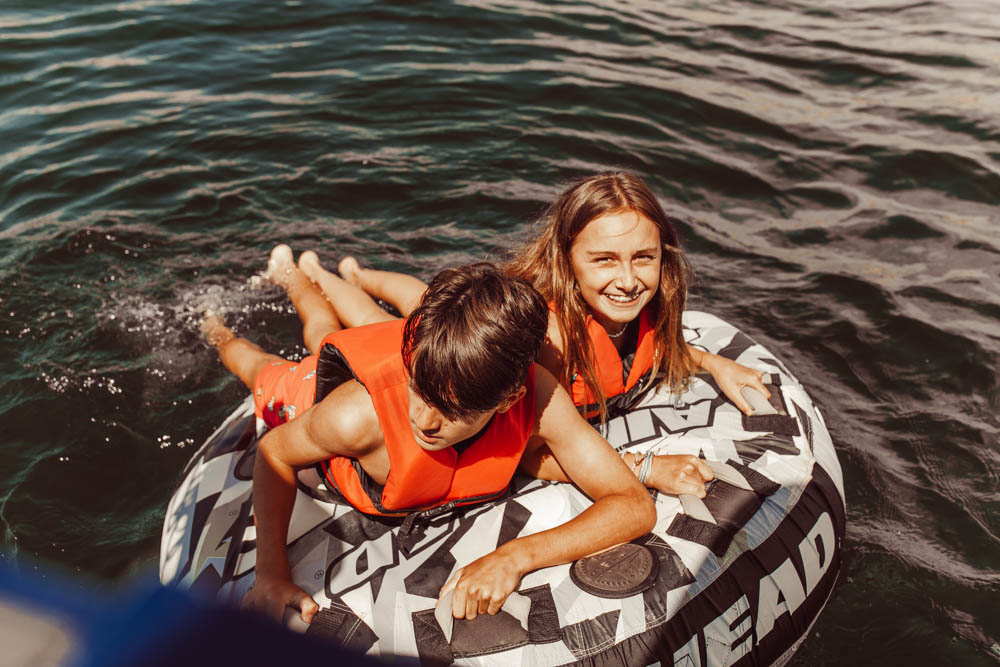 kids on an innertube