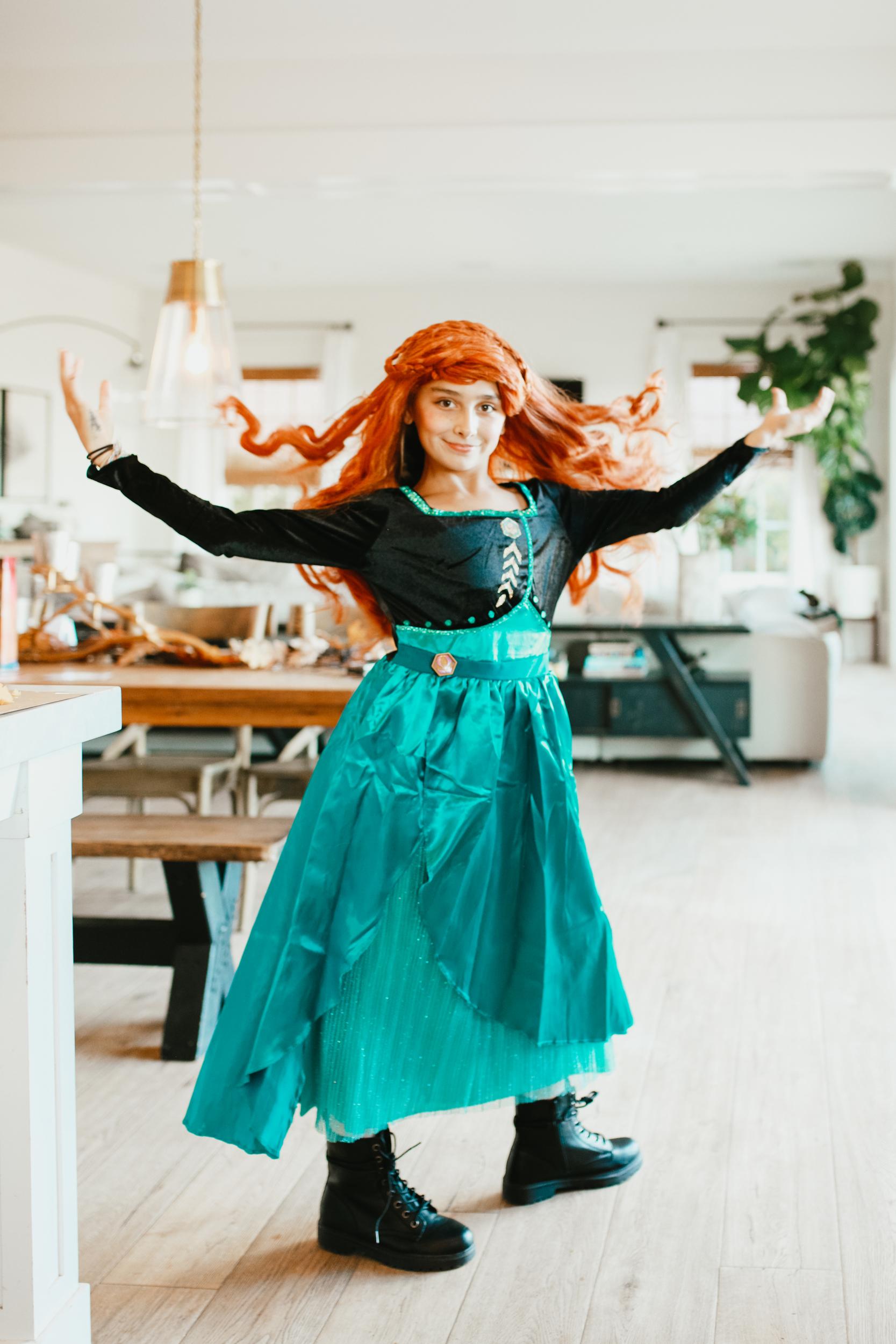 girl in disney princess costume