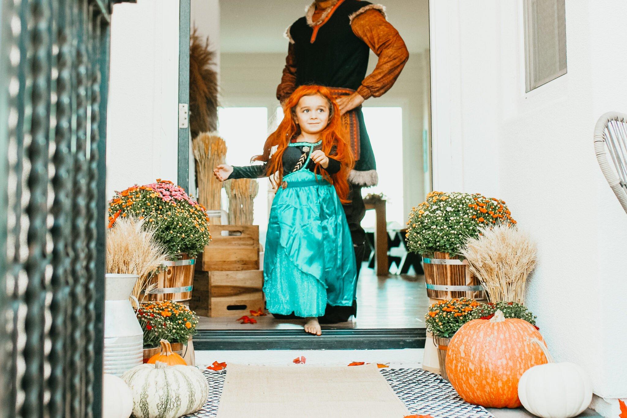 child dressed in costume