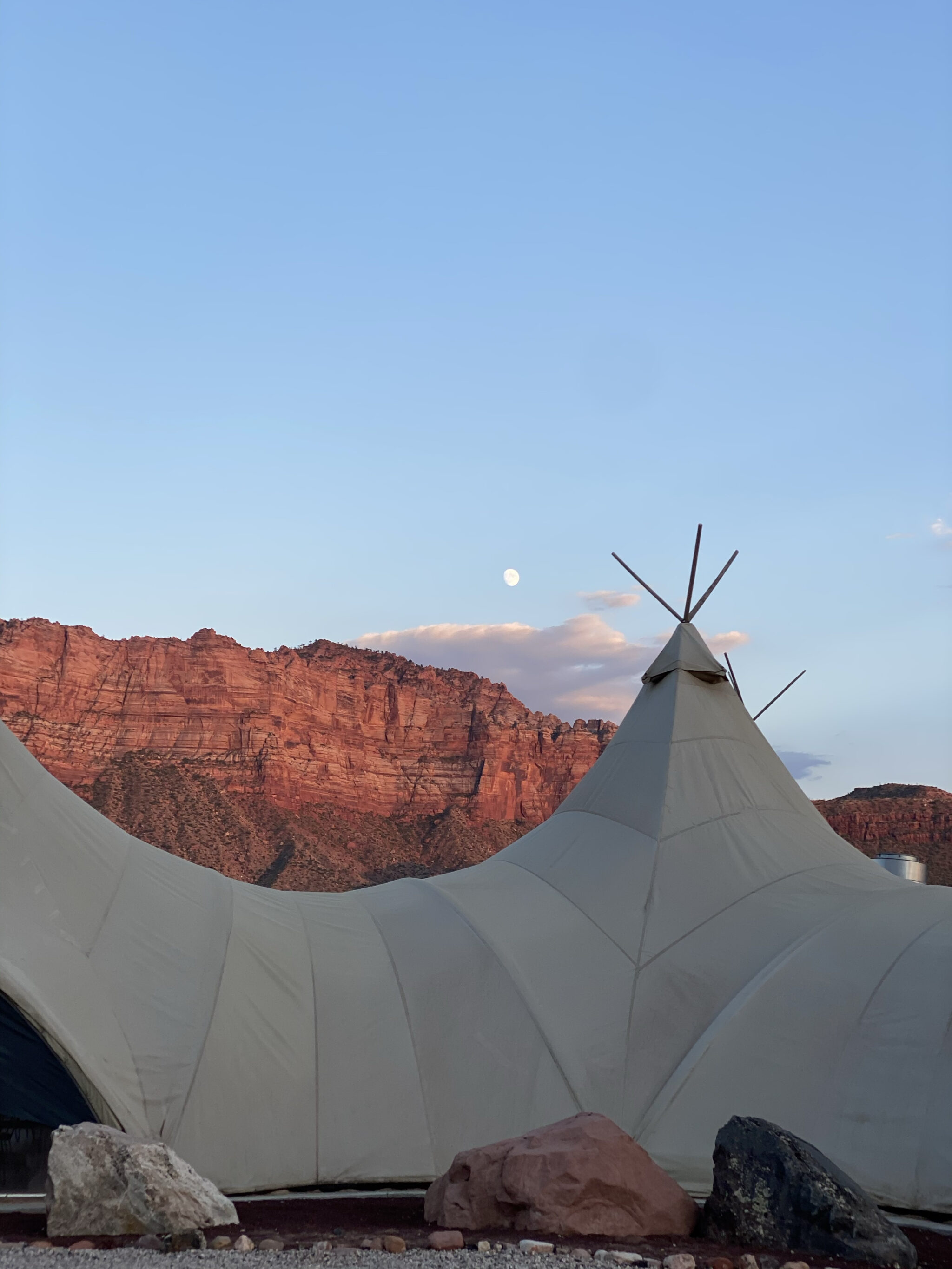 glamping tent in zion