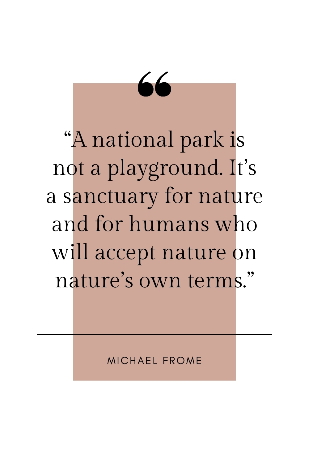 Michael Frome quote