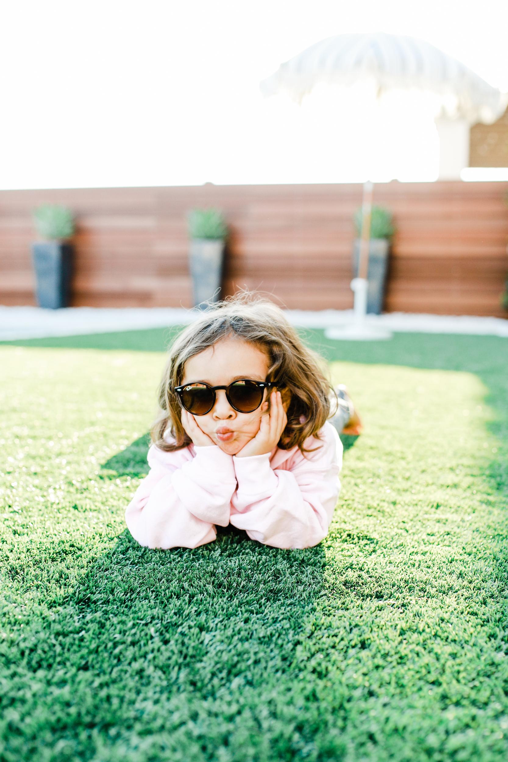 toddler in sunglasses
