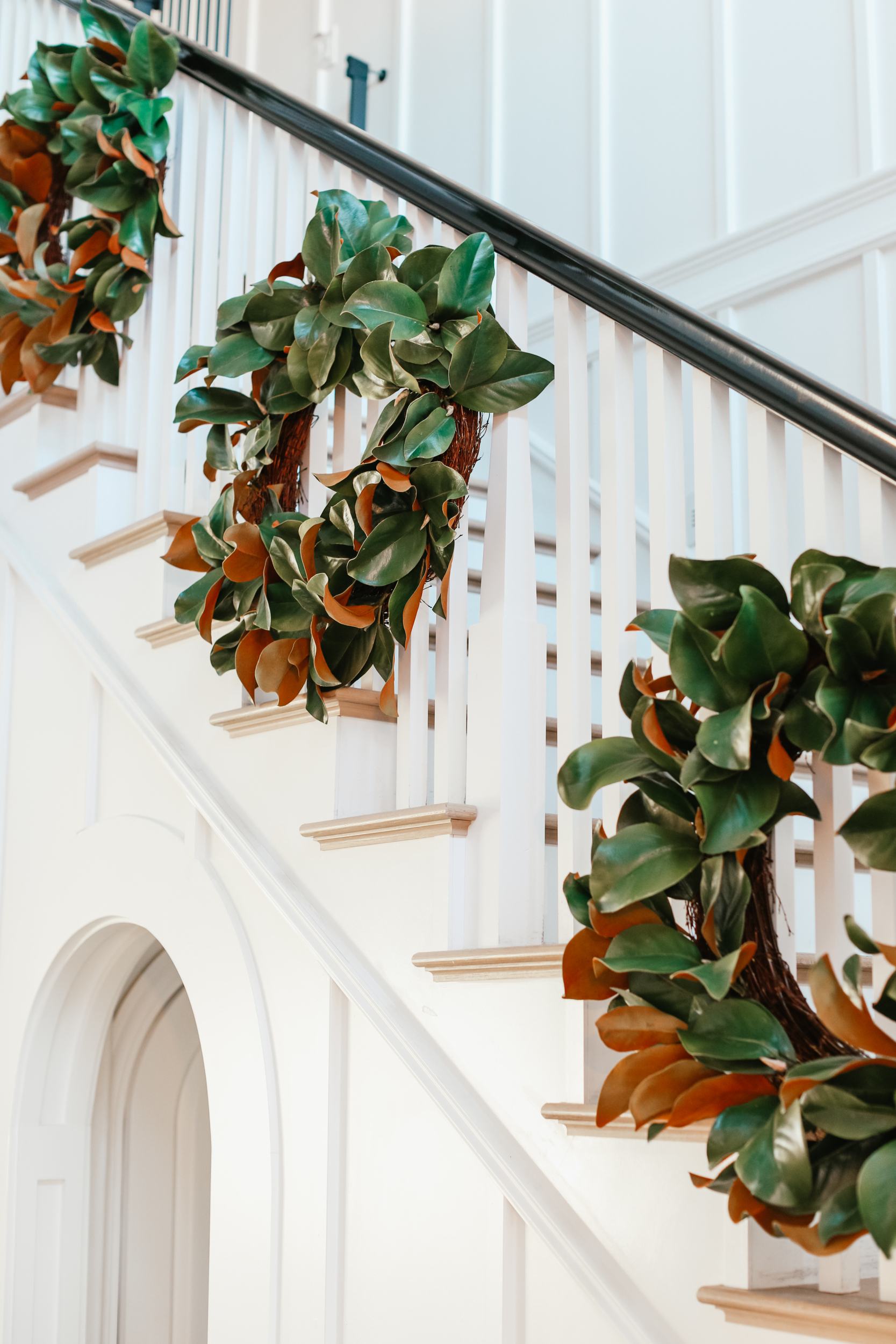wreaths on staircase