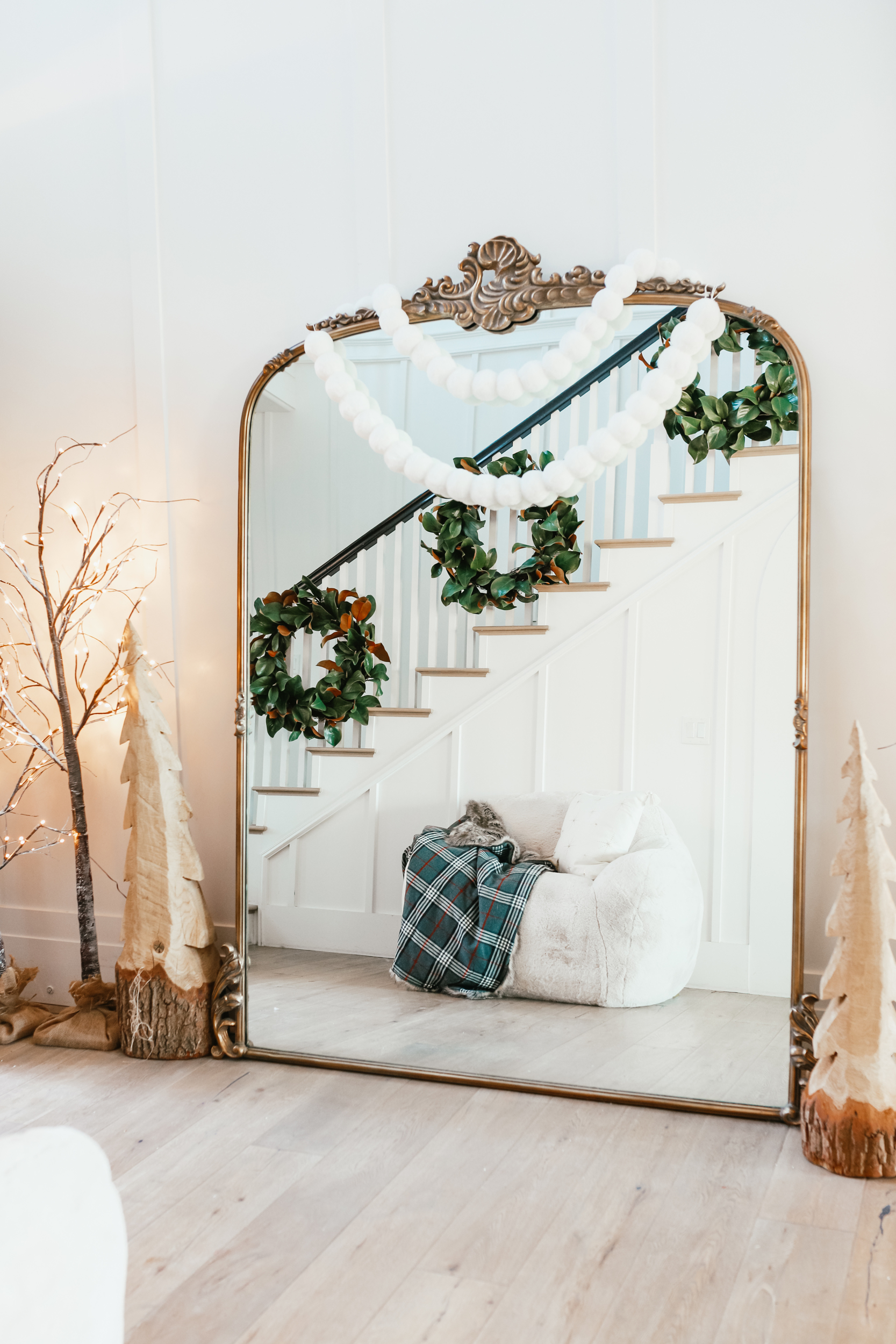 large holiday mirror