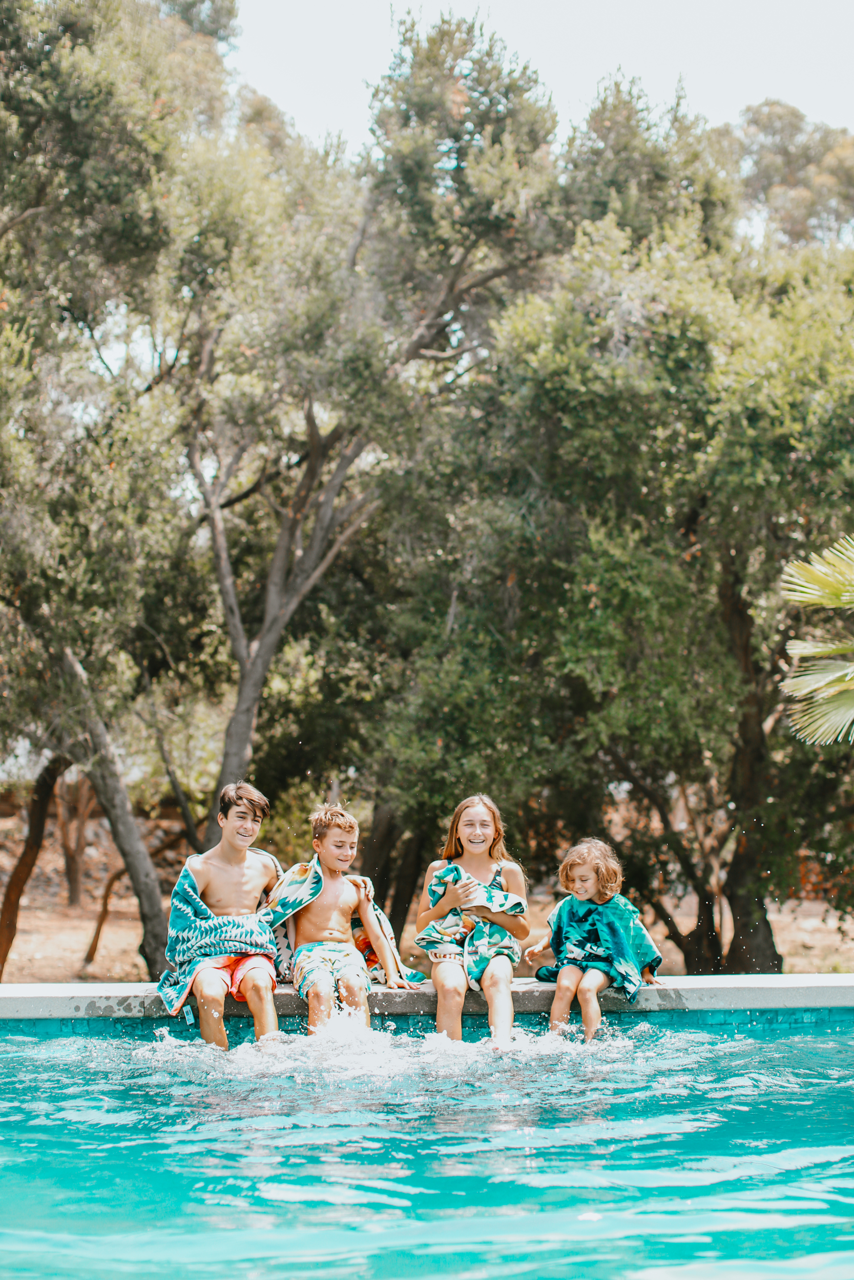 kids by the pool