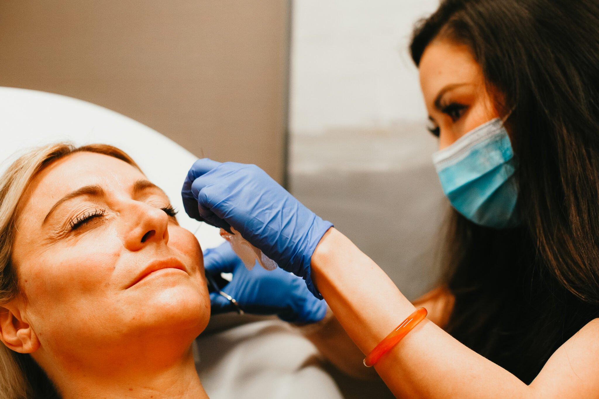 woman cosmetic procedure