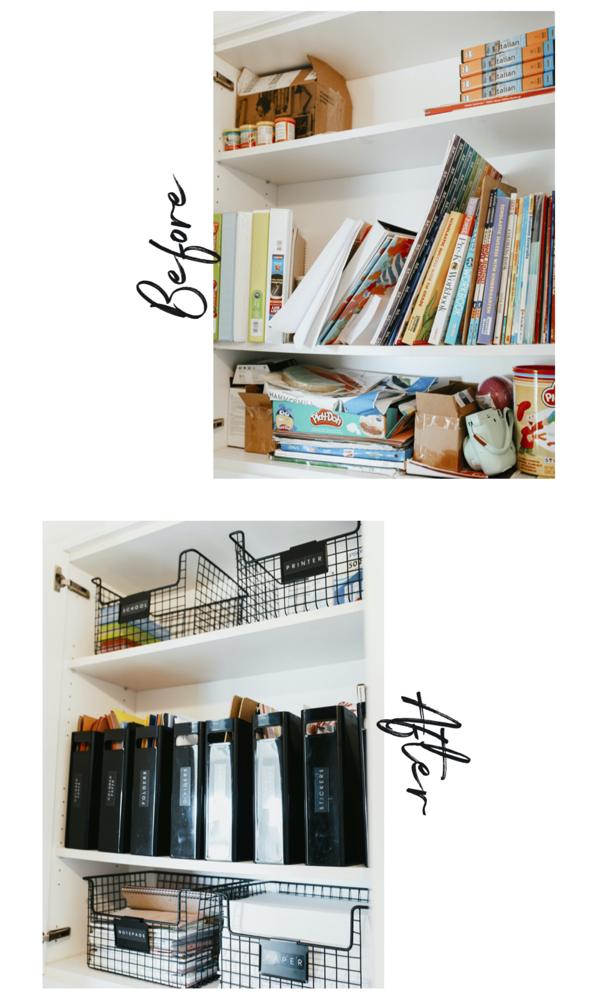 before and after organization