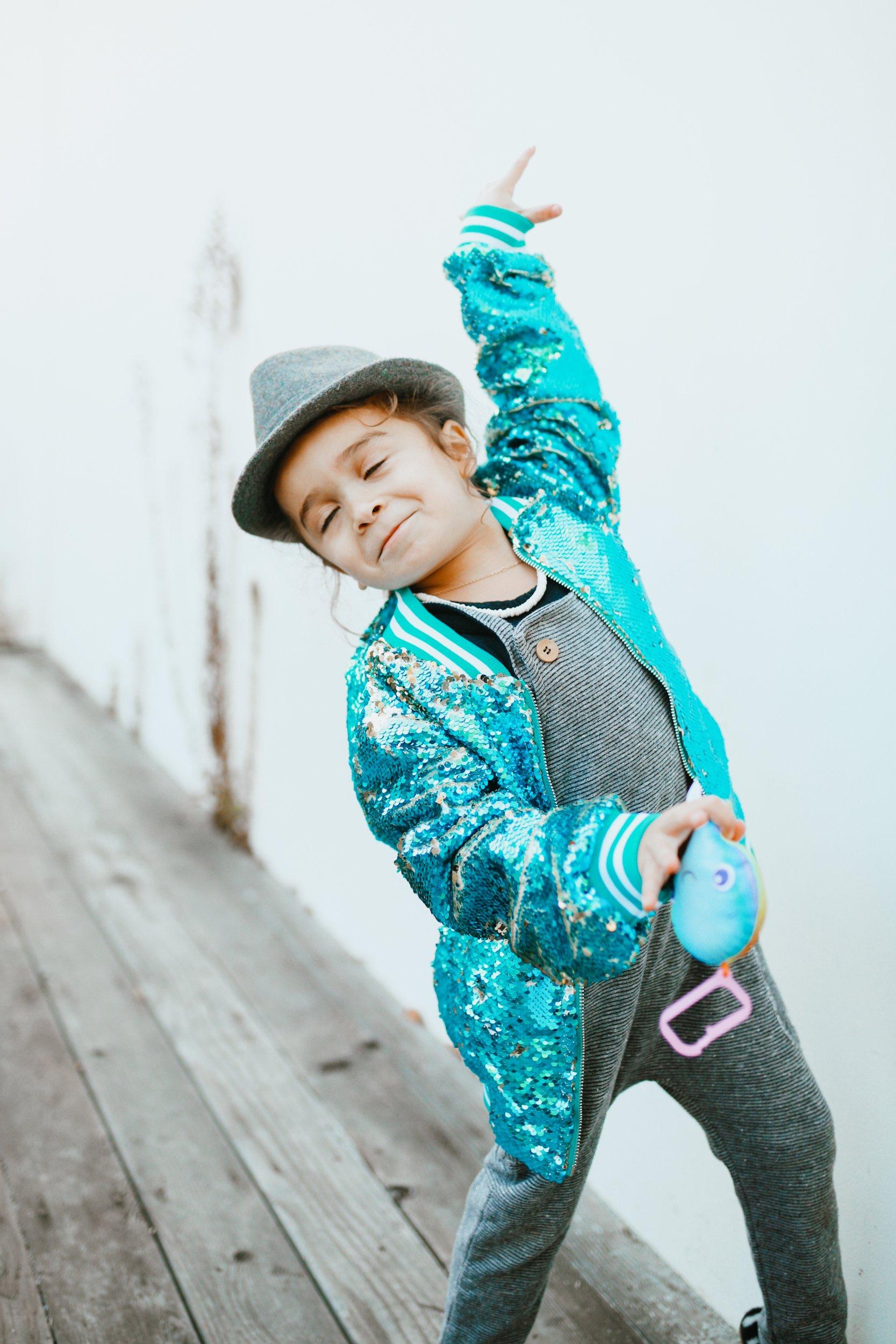 stylish boy dancing
