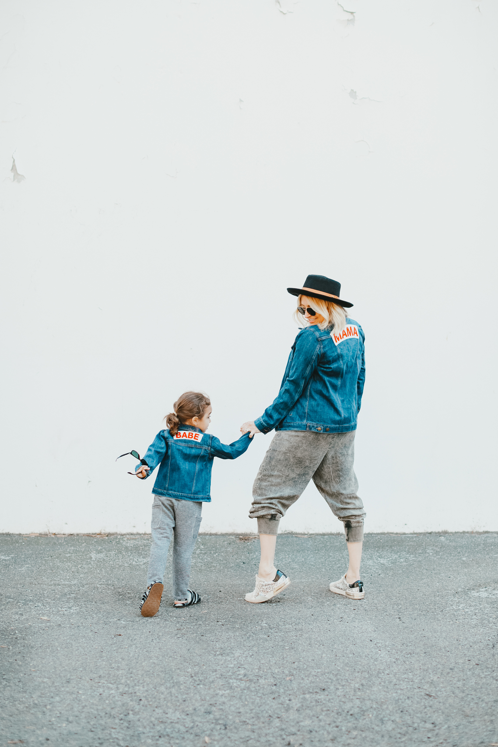 mom and dancing kid